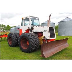 "1976 Case 2670 Tractor, 4WD, 7600Hrs, W/ 12' Delgeman Blade And Rock Hook, Rubber 18.4""x34"""