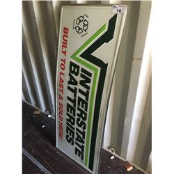 INTERSTATE BATTERIIES METAL SIGN - REPRODUCTION