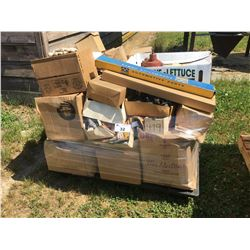 PALLET OF ASSORTED NEW OLD STOCK CAR PARTS
