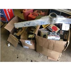 3 BOXES OF ASSORTED HALOGEN HEADLIGHTS & NOS CAR PARTS