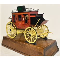 HAND MADE, SIGNED OSCAR M. CORTEZ WELLS FARGO STAGE COACH