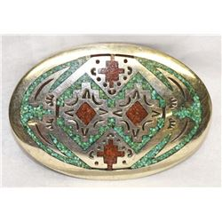 RARE NAVAJO BELT BUCKLE...SIGNED! WILLIAM SINGER