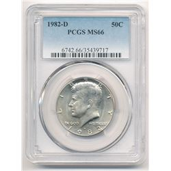 1982-D BU KENNEDY HALF DOLLAR PCGS MS 66