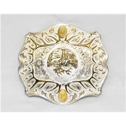 AUTHENTIC MONTANA SILVERSMITH ELK TROPHY BELT BUCKLE