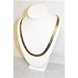 Sterling Silver Herringbone Link Necklace 24 inches with Lobster Clasp