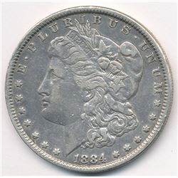 MANDY'S HAND SELECTED SILVER DOLLAR 1884-P