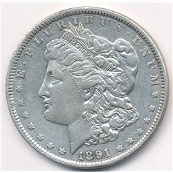 1891 VF DETAILS MORGAN SILVER DOLLAR MANDY BARGAIN