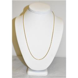 "22"" Gold Rope Chain Stamped 10k yellow gold"