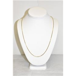 "14k Yellow Gold 28"" Rope necklace"