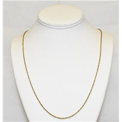 "Glittering 14K Yellow Gold 24"" Rope Chain Necklace"