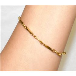 "18K Yellow Gold 7"" bracelet 7.5grams"