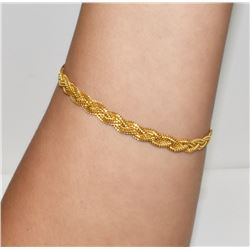 Luxury Yellow Gold Womens Bracelet 21K wheat link