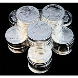 MANDY SPECIAL!! (1000) 1 OZ .999 FINE BUFFALO SILVER ROUNDS