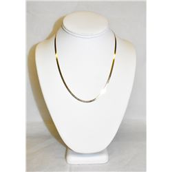 "Stunning Women's 14k Yellow Gold Micro Herringbone soft chain, 18"" long"