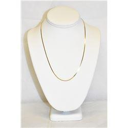 Yellow Gold 14k Flat Snake Chain Necklace 19""