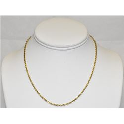 "Yellow Gold 14k Diamond-cut 16"" rope chain necklace"