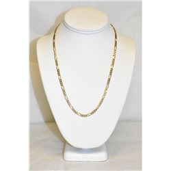 "Men's 14k Yellow Gold 3mm, 20"" Figaro Chain necklace"