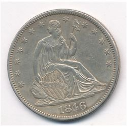 1846  MEDIUM DATE MS63 Quality Seated Half Dollar