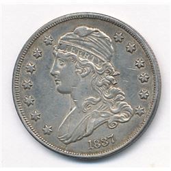 1837 Capped Bust Quarter AU55 Condition