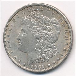 1901 Morgan Silver Dollar AU condition