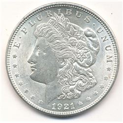 1921 MORGAN SILVER DOLLAR - ALMOST MINT CONDITION
