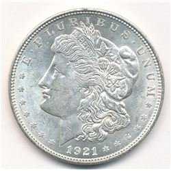 1921-D (DENVER) MORGAN SILVER DOLLAR - ALMOST MINT CONDITION