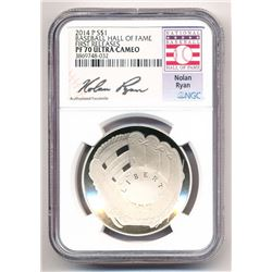 2014-P BASEBALL HALL OF FAME *NOLAN RYAN SIGNATURE* FIRST RELEASES NGC PROOF 70 ULTRA CAMEO