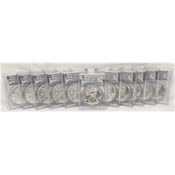 2011-S SAN FRANCISCO SILVER EAGLES WINNER TAKES ALL 11 COINS SHOWN HERE!!