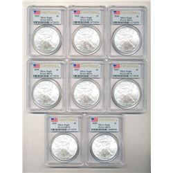 (8) 2010 MS 70'S WINNER TAKES ALL 8 COINS SHOWN HERE!!