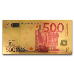 500 Euro 24k pure gold Note with Certificate of Authenticity 100 milligrams