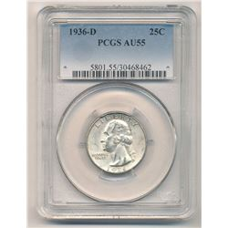 1936-D PCGS AU55 Washington Quarter