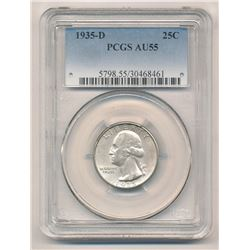 Rare date 1935-D PCGS AU55 Washington Quarter