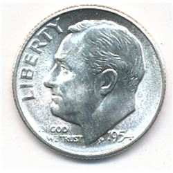 STUNNING 1954-S ROOSEVELT UNCIRCULATED SILVER DIME