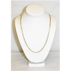 "10K Yellow Gold 24"" cuban curb chain link necklace 7.8 grams"