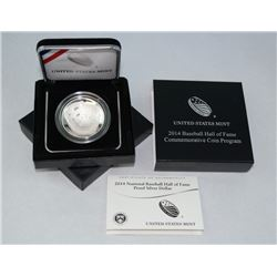 2014 BASEBALL HALL OF FAME COMMEMORATIVE COIN IN ORIGINAL GOVERNMENT PACKAGE US MINT