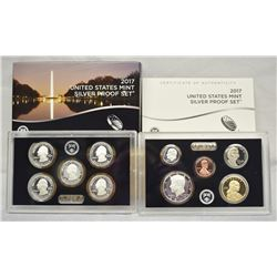 2017 US MINT SILVER 10-COIN PROOF SET IN ORIGINAL GOVERNMENT PACKAGING