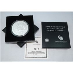 2013 AMERICA THE BEAUTIFUL FIVE OUNCE SILVER UNCIRCULATED COIN