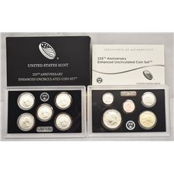 2017-S US MINT 225TH ANNIVERSARY ENHANCED UNCIRCULATED 10-COIN SET OGP