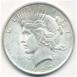 1922 Silver Peace Dollar (Brilliant Uncirculated)