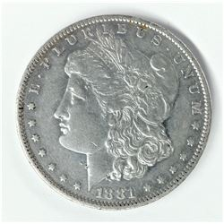 1881-O New Orleans Morgan Silver Dollar AU 58 Super Slider Proof-Like Surfaces
