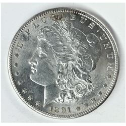 1891-S San Francisco Blast White Morgan Silver Dollar MS 64 Quality Very Stunning Coin!