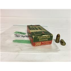 50 PCS REMINGTON .380 AUTO W/ ORIG BOX