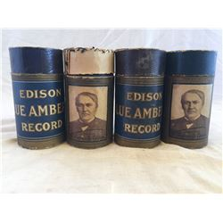 GR OF ?, EDISON SONG CYLINDERS, W/ ORIGINAL BOX