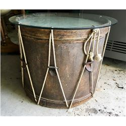 ANTIQUE DRUM APPROX 2' HIGH