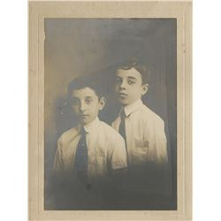 Vincente Minnelli early childhood photograph of he and his brother.