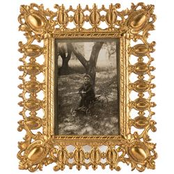 Vincente Minnelli framed childhood portrait real photo postcard.