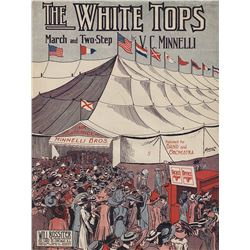 Vincente Minnelli sheet music for his father's composition, 'The White Tops'.