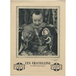 Vincente Minnelli poster for the musical clown troupe Les Fratellini.