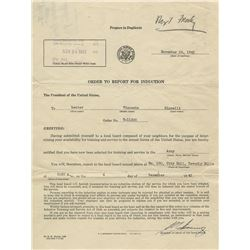Vincente Minnelli WWII-era US Army Honorable Discharge papers.