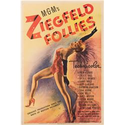 Vincente Minneli personal 1-sheet poster for Ziegfeld Follies.